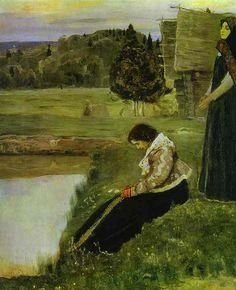 Deep Thoughts by Mikhail Nesterov