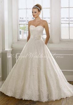 Shop Morilee's Bridal Organza Strapless Wedding Dress with a Tiered Ruffled Skirt. Wedding Dresses and Bridal Gowns by Morilee. This Organza strapless wedding Dress with a tiered ruffle skirt creating the perfect mermaid silhouette. Mori Lee Bridal, Mori Lee Wedding Dress, Wedding Dress Train, Sweetheart Wedding Dress, White Wedding Dresses, Wedding Dress Styles, Bridal Dresses, Wedding Gowns, Ribbon Wedding
