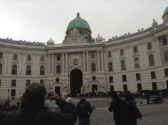Hofburg Palace Vienna Austria.  Hofburg palace was the favorite winter residence of the Hapsburgs who ruled over the Austro-Hungarian Empire.  It now houses 3 museums & is the residence of the preident of Austria.  This photo was taken on the 7 night Blue Danube Discovery River Cruise on the AMAPrima Nov 2013.  Photo Vic Doyno