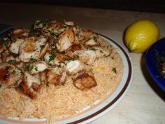 Chicken rice pilaf with tomato and clarified goat butter, from Kassos Island (Dodecanese)