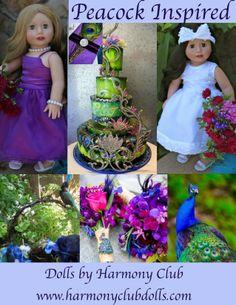 Peacock Wedding Inspired Dolls & Doll Fashion. Visit Harmony Club Dolls www.harmonyclubdolls.com