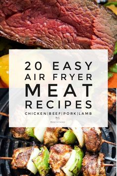 Easy Air Fryer Meat Recipes With Chicken, Pork, Beef & Lamb Roast beef in the air fryer and juicy beef kabobs Air Fryer Recipes Appetizers, Air Fryer Oven Recipes, Air Frier Recipes, Air Fryer Dinner Recipes, Meat Recipes, Chicken Recipes, Healthy Recipes, Air Fryer Rotisserie Recipes, Air Fryer Recipes Roast Beef