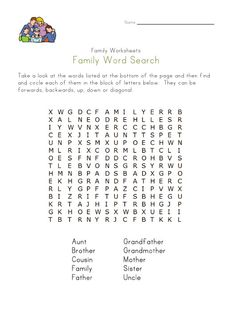 Family Worksheets for Kids Kids English, English Reading, English Words, English Lessons, English Class, School Age Activities, Kids Learning Activities, Worksheets For Kids, Printable Worksheets