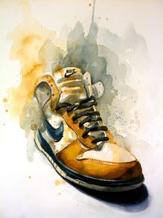 watercolor nike
