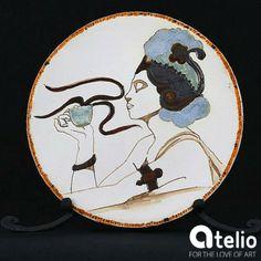 Ceramiczny obraz - patera stworzony w pracowni Sztuk Kilka. Do kupienia w atelio.pl