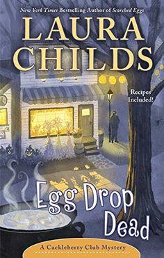 Egg Drop Dead (A Cackleberry Club Mystery) by Laura Childs http://www.amazon.com/dp/0425281701/ref=cm_sw_r_pi_dp_9ggtxb00E6GRW