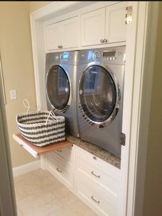 50 Beautiful and Functional Laundry Room Design Ideas Laundry room decor Small laundry room ideas Laundry room makeover Laundry room cabinets Laundry room shelves Laundry closet ideas Pedestals Stairs Shape Renters Boiler Laundry Room Storage, Laundry Room Design, Laundry In Bathroom, Drawer Storage, Basement Laundry, Laundry Baskets, Storage Shelves, Laundry Shelves, Extra Storage