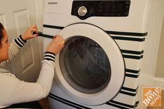 Decorating washer and dryer with electrical tape
