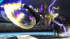 """""""The Levin sword and tomes are Robin's life lines. The Levin sword can be activated by using smash attacks--you can even activate these moves in midair! However, just like in the original game, the Levin sword can be used only a limited number of times before it breaks, at which point it takes some time to regenerate. When the Levin sword is unavailable, Robin fights using the bronze sword."""""""