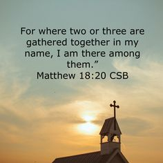 Together we gather in His name ♡