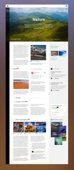 Wikipedia Redesign | Unity | dribbble