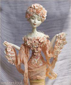 Майская Роза (портрет) doll, dollart, hand made, ©ambercloud, авторская кукла