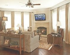 Furniture placement, tv above fireplace, hmmm