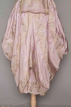 Evening Gown (image 6) | 1916 | faille, brocade | Augusta Auctions | April 20, 2016/Lot 209