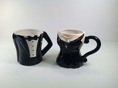 Coffee Mugs/His & Hers/Black Tuxedo/Little Black Dress/Pier 1