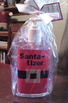 Thanks go out, yet again, to Pinterest  for helping me find the super cute idea to re-label a hand sanitizer bottle and make it into an ador...