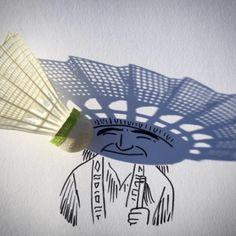 Shadowology Doodles - Vincent Bal - shuttle bird