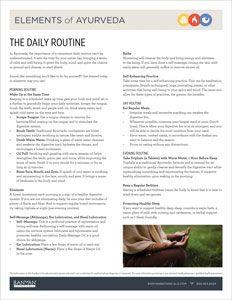 Pitta-Kapha and Kapha-Pitta Pacifying Daily Routine | Banyan Botanicals