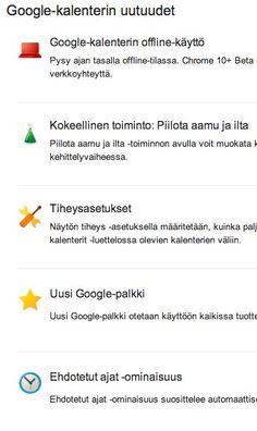 Google -kalenterin uusia ominaisuuksia: Joko tunnet kaikki?