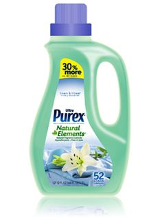 Ultra Purex Natural Elements Fabric Softener    A Fabric Softener With Natural Fragrance Extracts for Pleasant Freshness and Softness.
