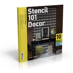 Stencil 101 Décor : Customize Walls, Floors, and Furniture with Oversized Stencil Art by Ed Roth Print, Other) for sale online Stencil Decor, Stencil Painting, Stencil Patterns, Stencil Designs, Art Furniture, Painted Furniture, Furniture Projects, Thing 1, Book Crafts