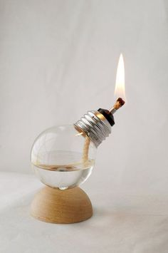 Cool candle idea- reusing old light bulbs