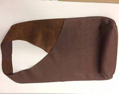 Schouder handtas Handmade In leder - baksteen rood / kaneel kleur