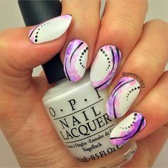 Sharpie watercolour nail art obsessed