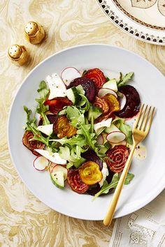 Crispy Beet and Mozzarella Saladgoodhousemag