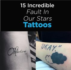 "15 Incredible Tattoos Inspired By ""The Fault In Our Stars"" #TFIOS #JohnGreen"