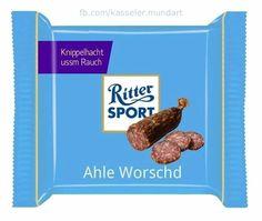 RITTER SPORT Fake Sorte Ahle Worschd