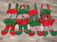 Items similar to Personalized Elf legs Christmas Stocking FREE monogram! on Etsy Christmas Ribbon, Felt Christmas, Christmas Stockings, Christmas Crafts, Christmas Ornaments, Elf Centerpieces, Christmas Centerpieces, Elf Christmas Decorations, Christmas Tree Toppers