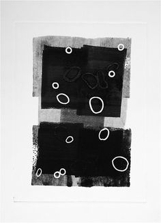 5 Bubbles, Monoprints, black and white – Categories – Maureen Chatfield