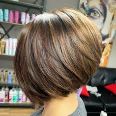 The Full Stack: 50 Hottest Stacked Haircuts A-Line Bob With Stacked Layers Inverted Bob Hairstyles, Short Layered Haircuts, Short Hairstyles For Thick Hair, Hairstyles Haircuts, Short Hair Cuts, Short Hair Styles, Medium Hairstyles, Braided Hairstyles, Wedding Hairstyles