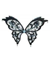 Black Lace Butterfly Wings