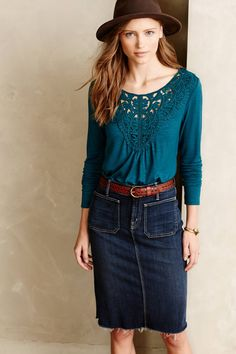 Bobbinlace Tee by Meadow Rue $68.00 - anthropologie.com