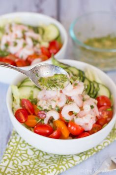 Light Crab and Shrimp Salad with Lemon Chive Dressing