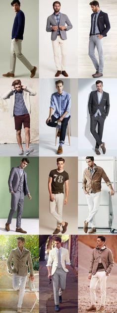 Top 5 Mens Summer Footwear Styles: 1.Suede Brogue/Derby Lookbook Inspiration