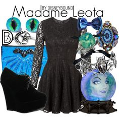 Madame Leota by Disney Bound Disney Themed Outfits, Disney Bound Outfits, Disney Inspired Fashion, Disney Fashion, Madame Leota, Disney Dress Up, Disney Style, Disney Disney, Disney Parks