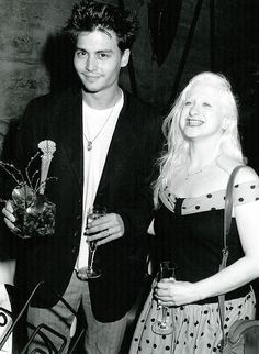 Johnny Depp (Cry-Baby) and Kim McGuire (Hatchet-Face)