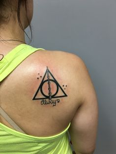 Finally got the Harry Potter tattoo I've been wanting. #deathlyhallows #always #hptattoo
