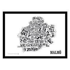 Malmökarta poster i gruppen Posters / Posters hos RUM21.se (128358)