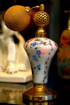 Frivolous Fabulous - Antique French Perfume Bottle 1930 for Miss Frivolous Fabulous
