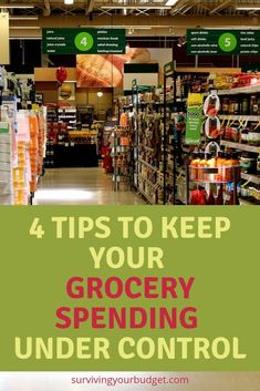 Saving money isn't always easy, especially when you don't know where to start.  Learning how to save money on groceries can help put money in your savings account.  Click through to learn 4 tips to keep your grocery spending under control. #savemoneyongroceries #moneysavingtips #savemoney