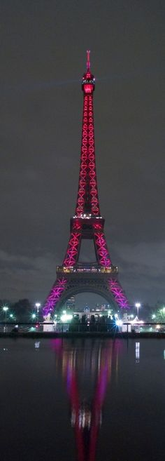 The Eiffel Tower goes pink...