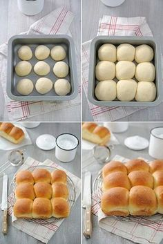 Brioche buchty - Amuses bouche - Food and Drink Sweet Recipes, Snack Recipes, Cooking Recipes, Donut Recipes, Bread And Pastries, Snacks, Bread Baking, Yeast Bread, Cooking Time