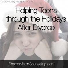Helping Teens through the Holidays After Divorce by Sharon Martin, LCSW how divorce affects kids, divorce and kids Parenting Fail, Parenting Books, Parenting Teens, Parenting Classes, Foster Parenting, Parenting Quotes, Divorce And Kids, After Divorce, Divorce Parents