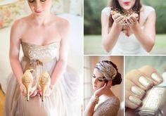 glitter wedding