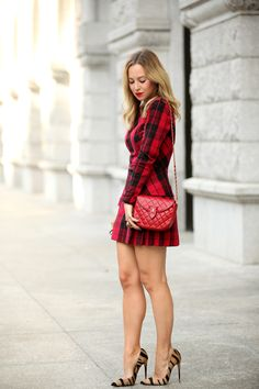Pattern mix for fall..plaid & stripes