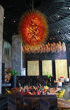 FIRE W RETREAT & SPA BALI - SEMINYAK Balinese Interior, Commercial, Fire, Magazine, Spaces, Interior Design, Nest Design, Home Interior Design, Interior Designing